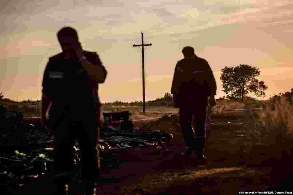 Самолет упал рядом с деревней Грабово в Донецкой области