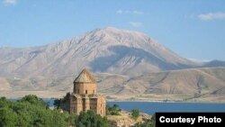 The 10th century Church of the Holy Cross is an Armenian landmark in eastern Turkey.