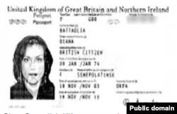Копия британского паспорта Дианы Баттальи, дочери Акежана Кажегельдина, которая была опубликована в «Панамских бумагах». Фото из сайта Radio New Zealand.