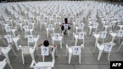 Instalacija na Međunarodni dan nestalih na Kosovu