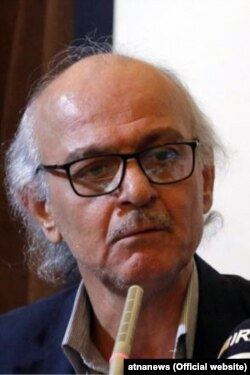 Iranian university professor and outspoken academic Hashem Aghajari, in a meeting in Allameh Tabatabaei University on December 18, 2018.