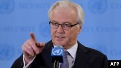 Постоянный представитель России в ООН Виталий Чуркин.