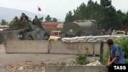 Российские миротворцы в зоне грузино-осетинского конфликта (архивное фото)