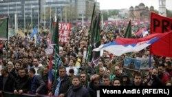 Zajednički protest i šetnja od Vlade do Palate Srbije