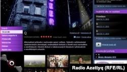 """Фрагмент веб-сайта телекомпании """"Чешское телевидение""""."""