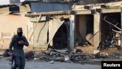 جلال آباد: یو پولیس د بمي چاودنې ځای ته ځان رسوي