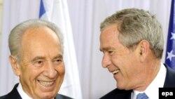 Шимон Перев ва Ҷорҷ Буш: дӯстии Исроил ва ИМА абадист!