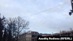 Azerbaijan-Ganja-building of the philarmoni