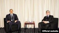 Президенты Ильхам Алиев и Серж Саргсян