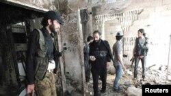 Бойцы Свободной сирийской армии в Хомсе