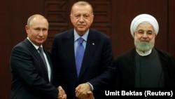 Владимир Путин, Рәҗәп Эрдоган һәм Хәсән Рухани