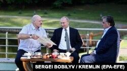 Владимир Путин, Александр Лукашенко и Эмомали Рахмон