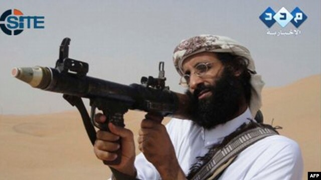 A video grab shows Anwar al-Awlaki, who was killed in a CIA drone strike on September 30, 2011.