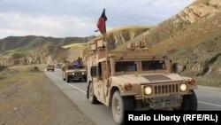FILE: An Afghan army convoy in Badakhshan province.
