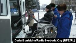 Безкоштовне таксі для людей з особливими потребами у Черкасах, 2012 рік