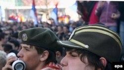 studentski protest u Kosovskoj Mitrovici, 20. februar 2008
