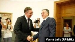 Susret Aleksandra Vučića i Filipa Vujanovića u Beogradu