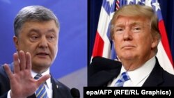 Петро Порошенко (ліворуч) та Дональд Трамп