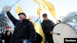 Украина -- Дуьхьалонан ши митинг ю дIайоьдуш Киеван центрехь, Лахь.15, 2016