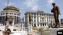 Дел од проектите од Скопје 2014.
