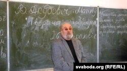 Валянцін Акудовіч чытае лекцыю ў Магілёве, 2016