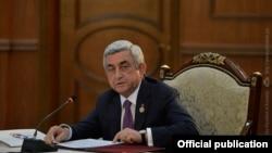 Арменияның бұрынғы президенті Серж Саргсян.