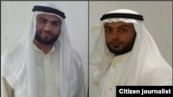 قاسم عبدالله (سمت راست) و عبدالله کرمالله کعب