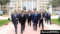 Главы делегаций Адхам Икрамов (РУз) и Мухамметкалый Абулгазиев (КР).
