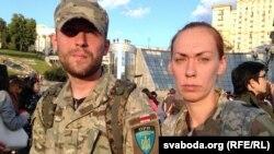 Васіль Парфянкоў з будучай жонкай Аленай
