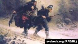Кнуд Бэргсьлін, «Лыжнікі-біркебэйнэры праходзяць горы з каралеўскім дзіцём»