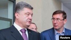 Петро Порошенко (Л) і Юрій Луценко