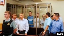 Рустем Ваїтов, Юрій (Нурі) Примов і Руслан Зейтуллаев (зліва направо),