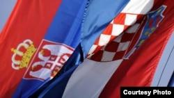 Zastave Srbije i Hrvatske, ilustracija
