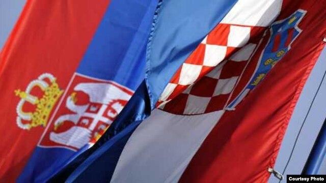 Zastave Srbije i Hrvatske, Foto: Branimir Pofuk