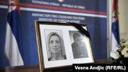 Komemoracija ubijenim diplomatama Srbije u Libiji Slađani Stanković i Jovici Stepiću