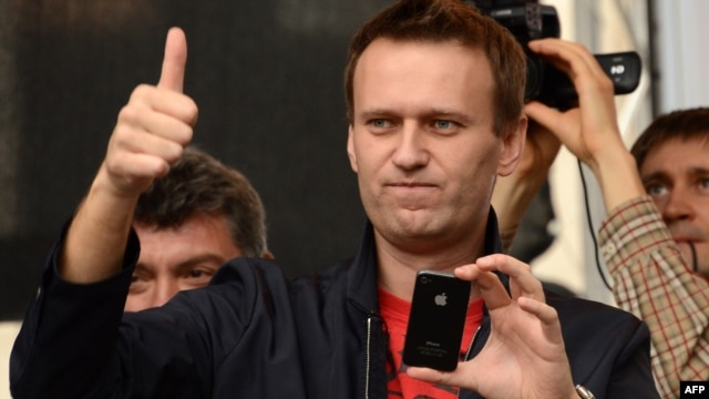Blogger and opposition figure Aleksei Navalny
