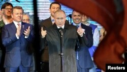 "Владимир Путин на праздновании ""присоединения"" Крыма"