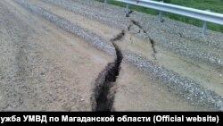 Трасса Колыма-Анадырь на территории Магаданской области