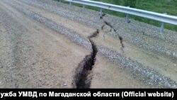 Трещины на трассе Колыма – Анадырь на территории Магаданской области