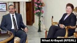 مساعدة نائب وزيرة الخارجية الاميركيةباربرا ليف في لقاء مع رئيس مجلس محافظة كركوك حسن توران