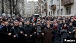 """""""Болотный ісі"""" бойынша сотқа жиналғандар. Мәскеу, 24 ақпан 2014 жыл."""