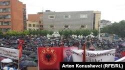 Protest ratnih veterana u Prištini protiv Specijalnog suda, ilustrativna fotografija