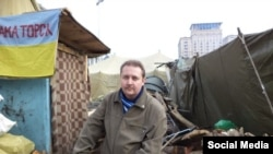 Павло Мєзєрін на Майдані у Києві 11 лютого 2014 року