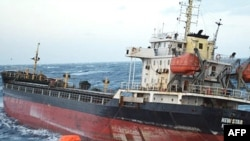 Cargo ship New Star floating in the waters of the Pacific ocean of Russia's Far Eastern coast, 18Feb2009