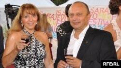 Direktor SFF-a Miro Purivatra i predsjednica žirija Mirjana Karanović