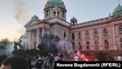 Proteste împotriva măsurilor anti-coronavirus, în Belgrad, 8 iulie