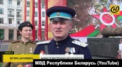 Shunevich appeared at Victory Day festivities in Minsk in May dressed in an NKVD uniform.