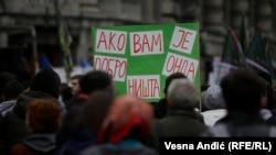 Sa protesta u Beogradu, ilustrativna fotografija