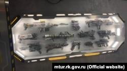 Экспонаты космического музея в Алуште