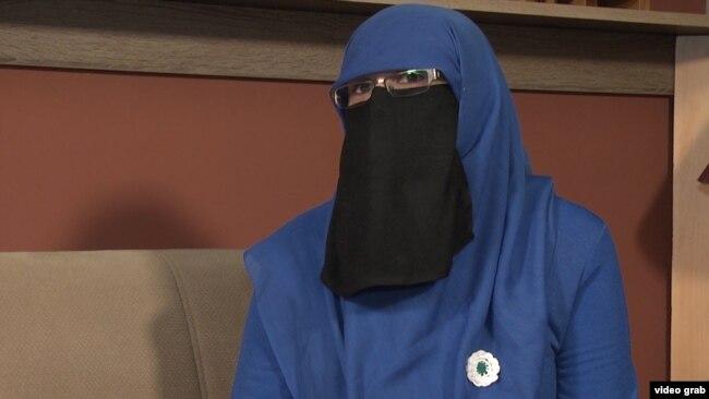Боснийская мусульманка в никабе